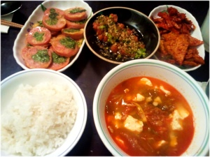 korean meal at home