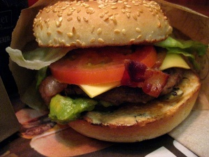 A&W Spicy Guacamole Teen Burger